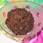 Chocolate Cream with Coconut and Raisin.