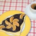 Chocolate Ganache with Clementine Juice.