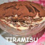 Italian Traditional Dessert Tiramisu