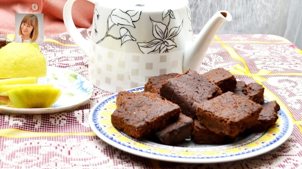 Chocolate Brownies with Sweetend Ginger.