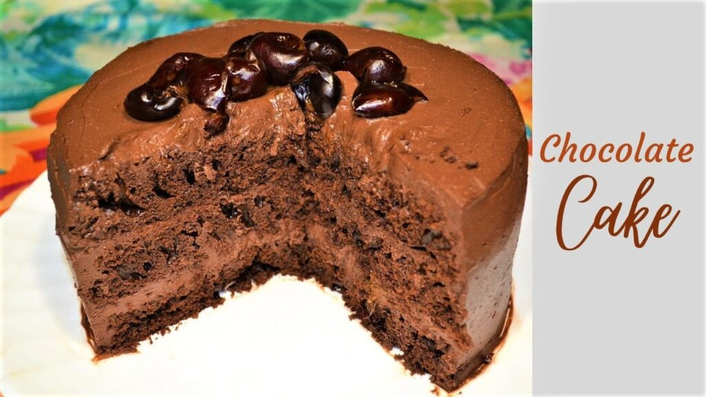Moist and delicious diet chocolate cake